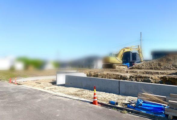 造成進捗3⚡擁壁工事完了!